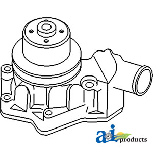 water pump John Deere LX288 Parts Diagram ujd20595 water pump replaces re67186